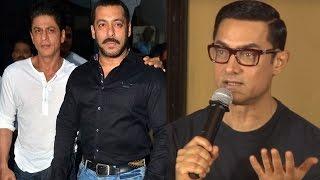 Aamir Khan feels like a WAITER in front of Salman Khan & Shahrukh Khan Uncensored Video