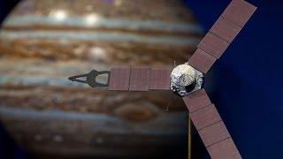 NASA's unmanned Juno spacecraft orbits Jupiter