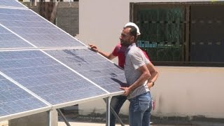 Electricity-starved Gazans turn to sun for help
