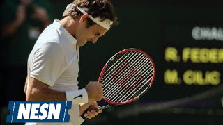 Federer Sets Wimbledon Records On Way To Semifinals