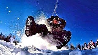 Snowlercoaster - Insane Zipline Sledding!