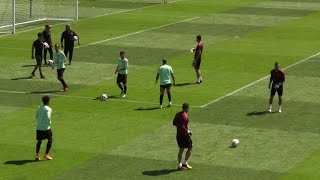 Fans flock to see Portugal train after Wales win