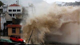 Super Typhoon Nepartak hit Taiwan, 15,224 people evacuated