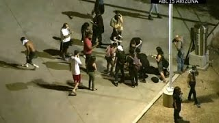 Raw: Police Use Pepper Spray at Phoenix Protest