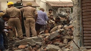On Cam: Building collapses in Meerut, five dead