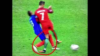 CRISTIANO RONALDO FOUL EM-FINALE 2016 PORTUGAL vs FRANCE UEFA EURO 2016