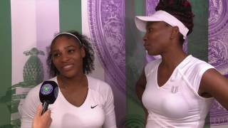 Serena & Venus Williams interview after winning Wimbledon doubles title 2016