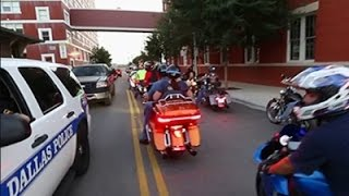 Motorcycle Riders Show Support for Dallas Police