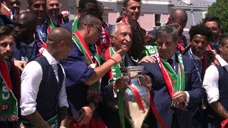 Heroes welcome in Lisbon for Portugal players after Euro title