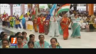 Sathya Sai world youth festival begins in Puttaparthi | Piyush Goyal and VVS Laxman Attend | iNews