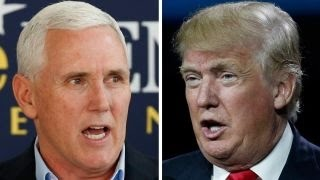 Indiana Gov. Mike Pence hits campaign trail with Trump