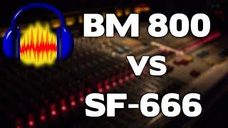 SF-666 VS BM-800 Condensor Microphone! Audio Qualtiy Test!