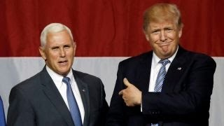 Indianan Gov. Mike Pence joins Trump on the campaign trail