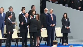 Kerry and NZealand's Key guests of honour at Bastille Day parade