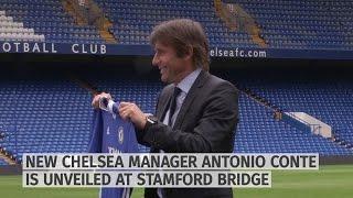 New Chelsea Manager Antonio Conte Unveiled At Stamford Bridge