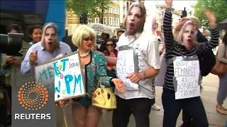 Anti-Theresa May protesters call for election