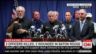 Press conference with Baton Rouge Sheriff Sid Gautreaux after Baton Rouge shooting