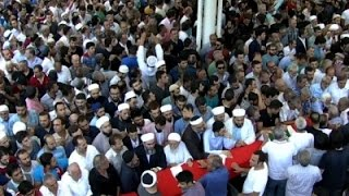 Raw: Turkish President At Coup Victim Funerals