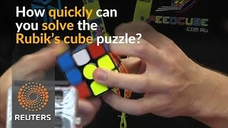 Rubik's cube 'speedcubers' battle it out in Euro championship
