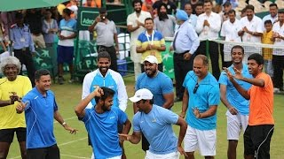 On cam: Leander Paes, Bopanna dance to celebrate win