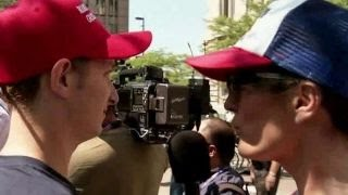 Kennedy catches up with protesters in Cleveland