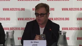 Elton John calls for inclusion of LGBTI community to fight HIV