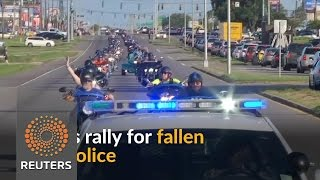 Bikers ride through Baton Rouge in support of fallen police