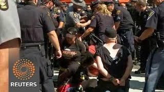 Protests lead to arrests outside Republican convention