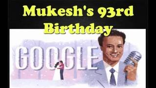 Mukesh,Mukesh's 93rd birthday