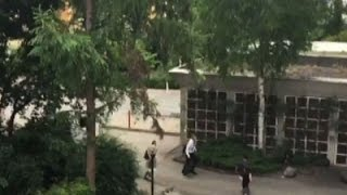 Raw: People Flee Germany Mall Shooting