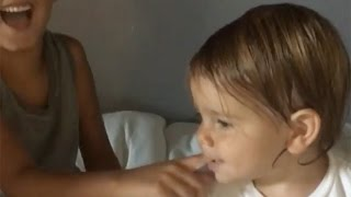 Kourtney Kardashian's Kids Recreated Charlie Bit My Finger & It's EPIC