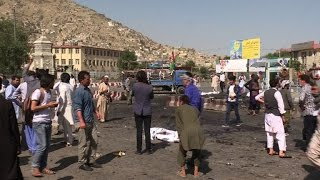 IS claims deadly twin blasts at Kabul protest