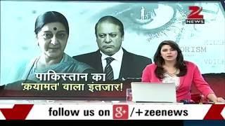 Sushma Swaraj dares Pak PM Nawaz Sharif for dream of taking Kashmir from India