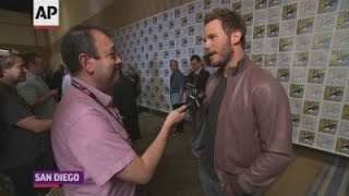 Pratt, Russell chat 'Guardians' at Comic-Con