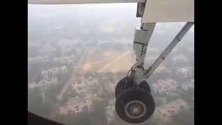 Flight landing live Amazing video at Indira Gandhi International Airport (IGI) New Delhi
