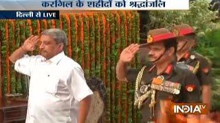 Kargil Vijay Diwas: Defence Minister, Army Chiefs Pay Homage to Kargil War Martyrs