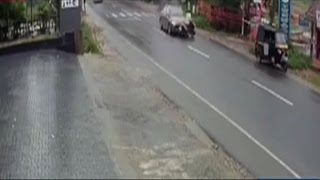 On Cam: Car rams bike in Kerala's Wayanad