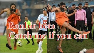 Right Click! You can't afford to miss Baba Ramdev's football kick