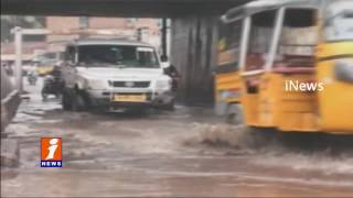 Water on Roads Of Visakhapatnam After Heavy Rain | iNews