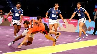 PRO Kabaddi League 4, 27th July 2016: Dabang Delhi vs U Mumba, U Mumba won by 38-34