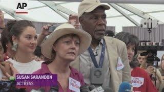 Sarandon, Glover, Woodley protest DNC snub