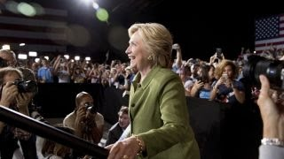 How can Clinton overcome the 'trust factor'?