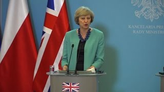 British PM seeks to reassure Poles in post-Brexit UK