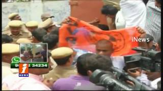 TS Eamcet Scam | ABVP Dharna at Sectriatate | Students Vs Police | iNews