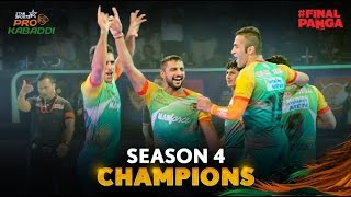 Pro Kabaddi League 2016 Season 4, Final Champions Patna Pirates 37 -29 beat Jaipur Pink Panthers