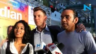 Brett Lee promotes his debut film 'UnIndian' in Mumbai