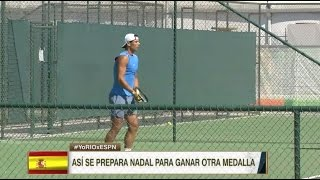 Rafael Nadal's 1st practice at the Rio Olympics. 1 Aug 2016
