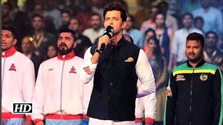 Watch: Hrithik Roshan croons National Anthem at Pro Kabaddi League