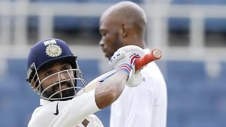 India vs West Indies - 2nd Test - Ajinkya Rahane's Century Takes India's Lead Past 300