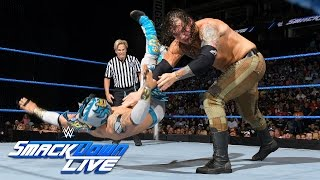 Crews vs. Kalisto vs. Corbin - Intercontinental Title No. 1 Contender's: SmackDown Live, Aug 2, 2016